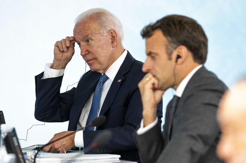 Joe Biden i Emmanuel Macron /Pool The New York Times/Associated Press/East News /East News