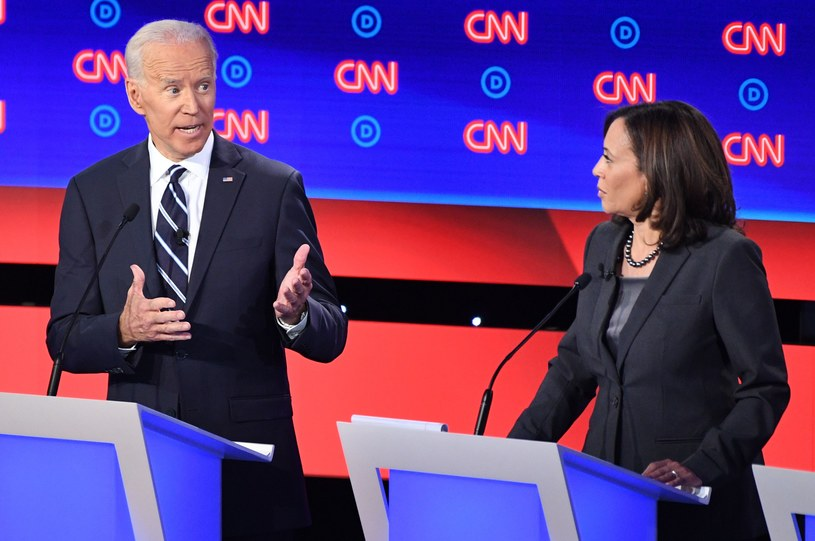 Joe Biden i Kamala Harris podczas debaty demokratów /JIM WATSON /AFP
