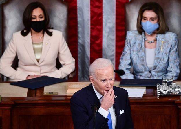 Joe Biden, Kamala Harris i Nancy Pelosi //JIM WATSON / POOL /PAP/EPA