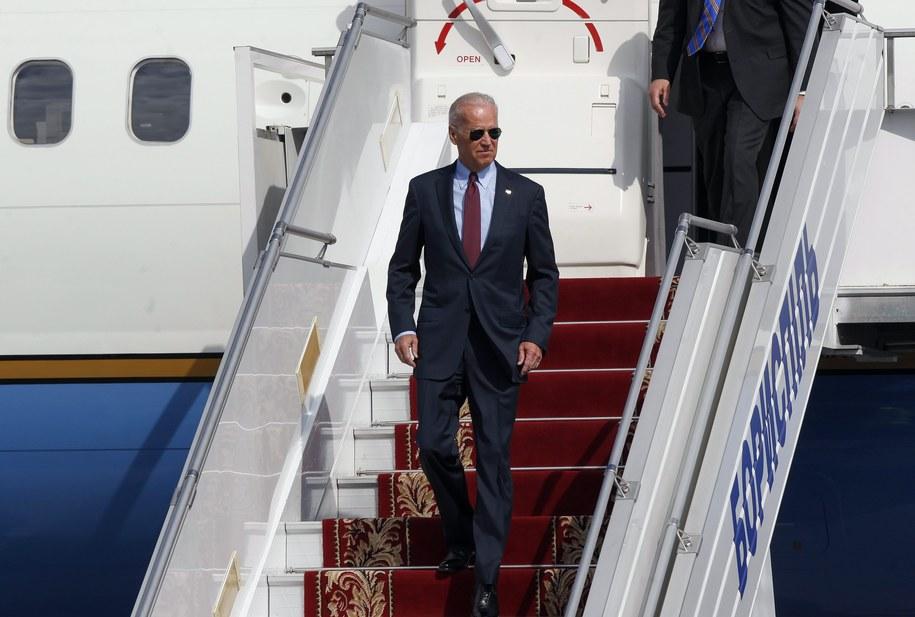 Joe Biden po przylocie na Ukrainę /YURIY MAKSIMOV /PAP/EPA