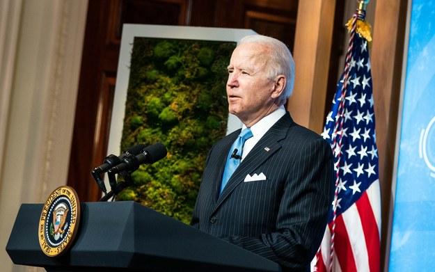 Joe Biden podczas wystąpienia w Białym Domu / Anna Moneymaker / POOL /PAP/EPA