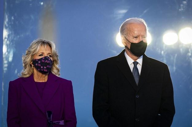 Joe Biden wraz z żoną Jill Biden /AL DRAGO / POOL /PAP/EPA