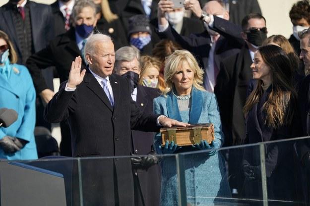 Joe Biden zaprzysiężony /Kleponis Chris/CNP/ABACA /PAP/EPA
