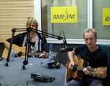 Joe Elliot i Phil Colen w studiu radia RMF FM /