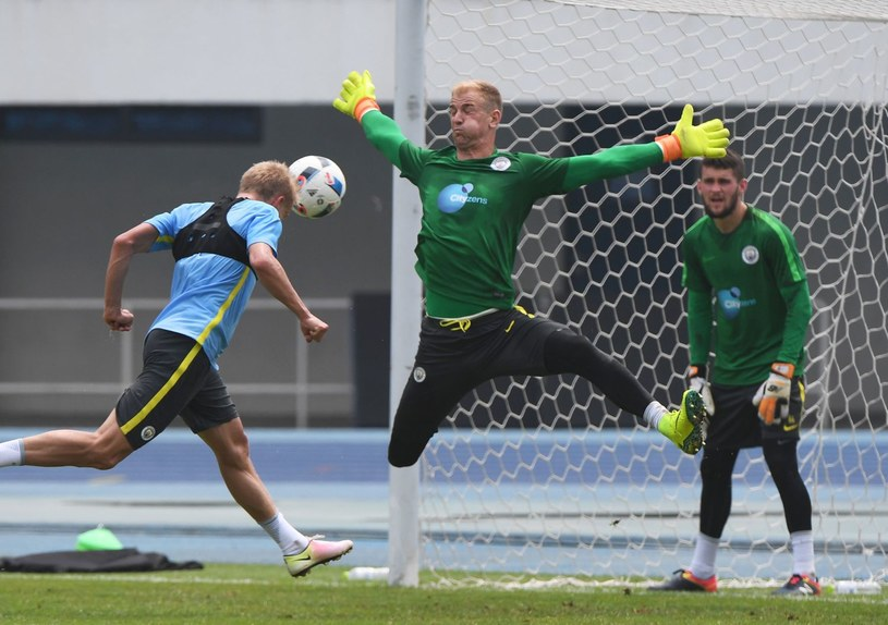 Joe Hart na treningu Manchesteru City /AFP