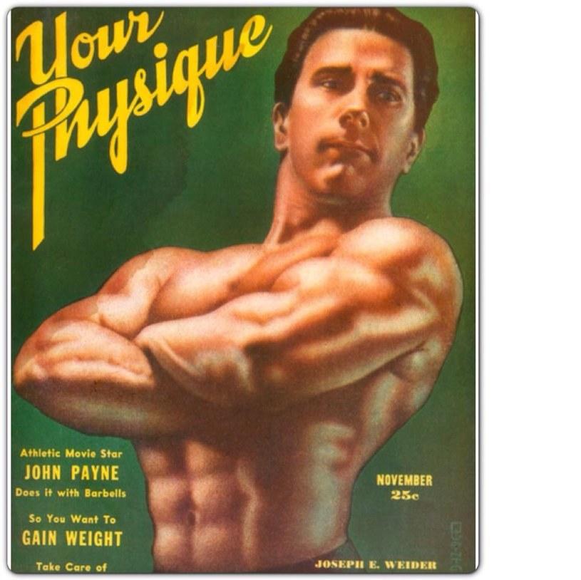 """Joe Weider na okładce swojego magazynu """"Your Physique"""" /materiały prasowe"""