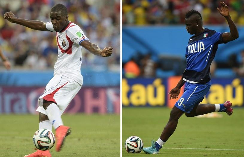 Joel Campbell (z lewej, Kostaryka) i Mario Balotelli /AFP