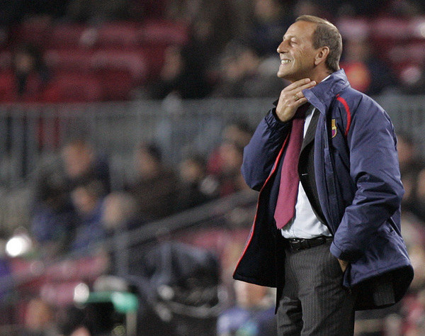 Johan Neeskens (jeszcze jako trener Barcelony) /AFP