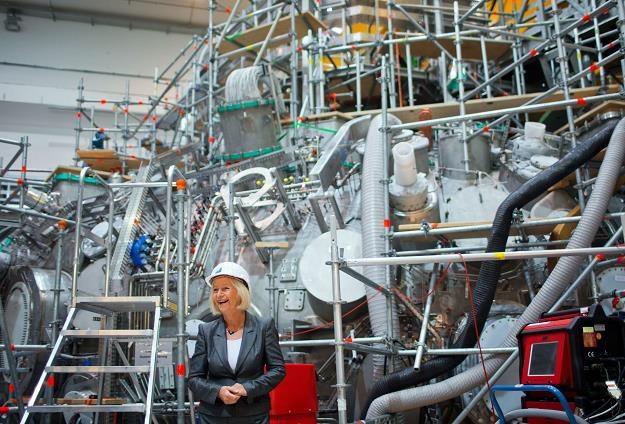 Johanna Wanka, minister badań naukowych Niemiec, dzisiaj w Greifswald /EPA