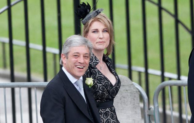 John i Sally Bercow na ślubie księcia Williama  /Splashnews