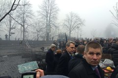 John Kerry w trakcie swojej wizyty na kijowskim Majdanie
