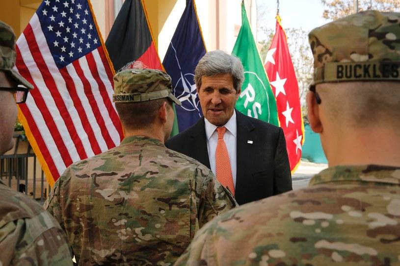 John Kerry z wizytą w Afganistanie /AFP