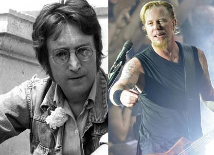 John Lennon (The Beatles), James Hetfield (Metallica) /arch. AFP