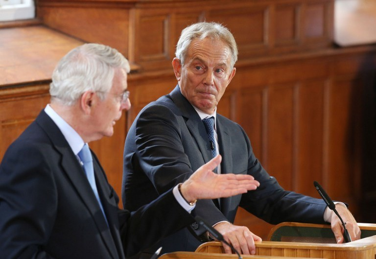 John Major i Tony Blair /AFP