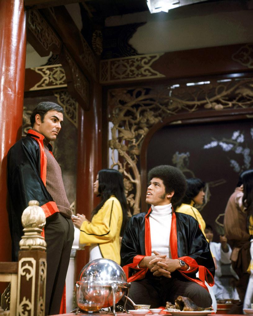 "John Saxon i Jim Kelly w filmie ""Wejście smoka"" (1973) /Silver Screen Collection /Getty Images"