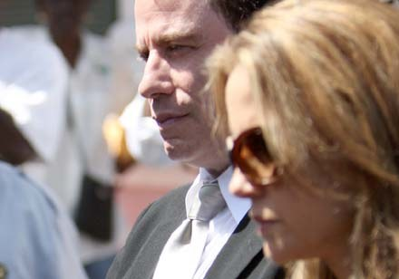 John Travolta podczas procesu na Bahamach /Splashnews