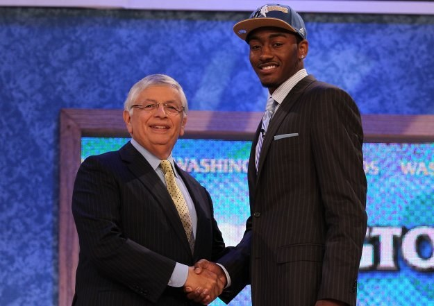 John Wall i komisarz NBA David Stern /Getty Images/Flash Press Media
