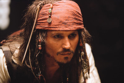 Johnny Depp jako Jack Sparrow /