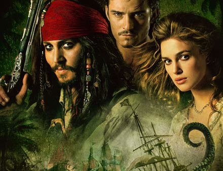 Johnny Depp (L) i Keira Knightley (P) zostali wybrani ekranową parą roku /