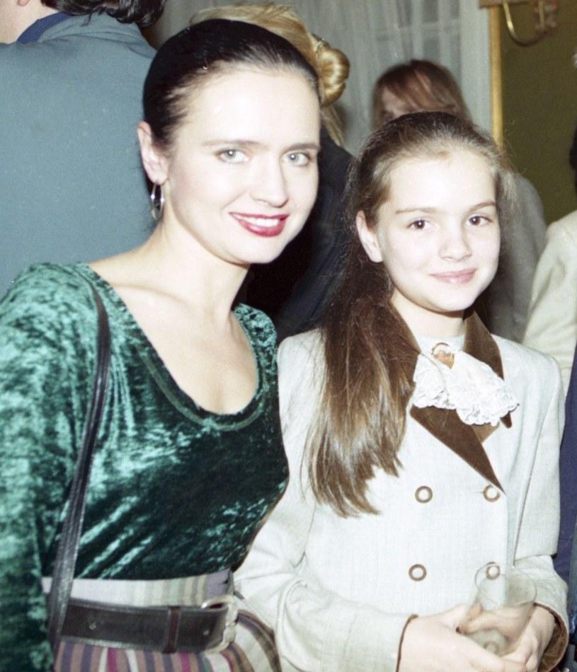 Jolanta Fajkowska z córką Marią /Zenon Zyburtowicz /East News