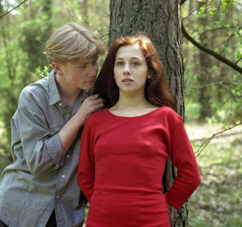"Jolanta Fraszyńska w 1992 roku na planie filmu ""Żegnaj Rockeffeller"" /INPLUS /East News"