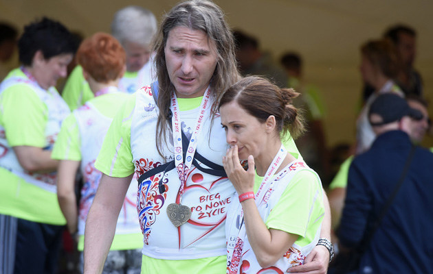 Jolanta Fraszyńska z ukochanym /Mieszko Pietka /AKPA