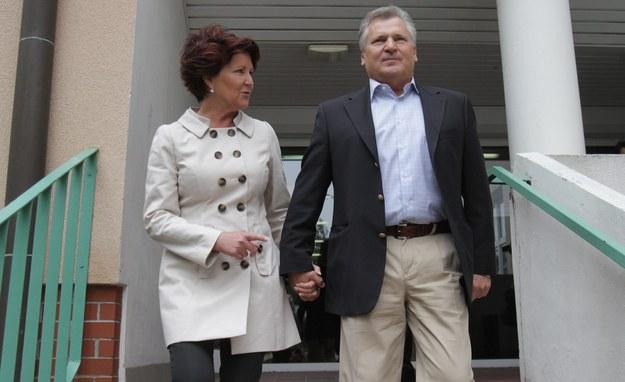 Jolanta i Aleksander Kwaśniewscy / PAP/Bartłomiej Zborowski /PAP