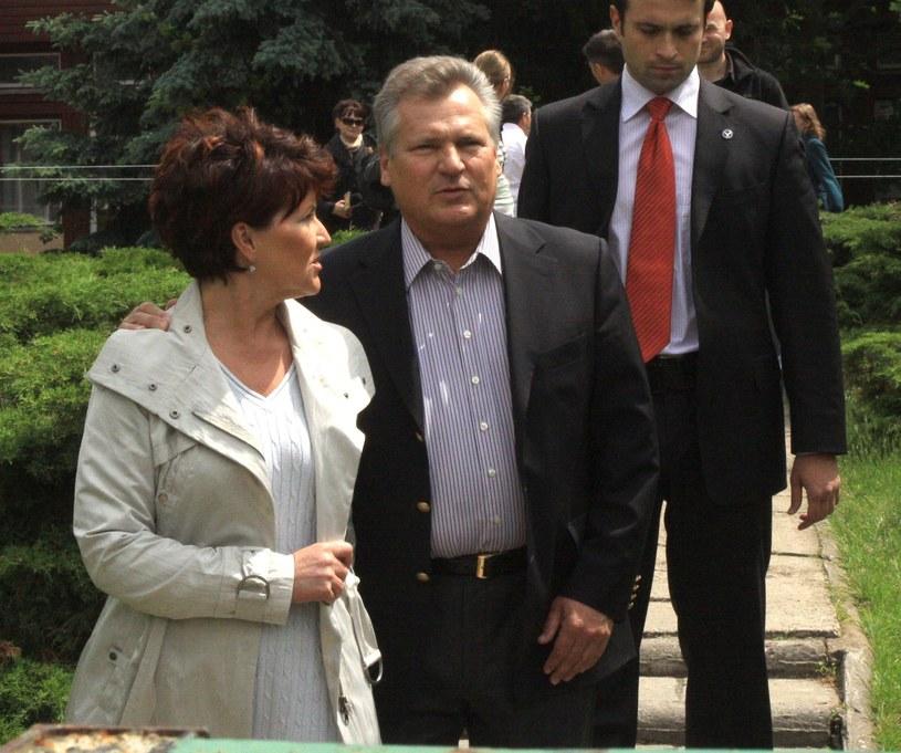 Jolanta Kwaśniewska i Aleksander Kwaśniewski /Witold Rozbicki/REPORTER /East News