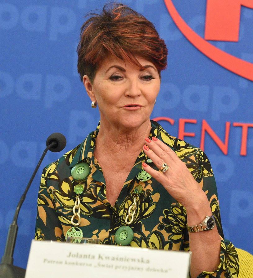 Jolanta Kwaśniewska uczestniczyła w konferencji prasowej /Tricolors /East News