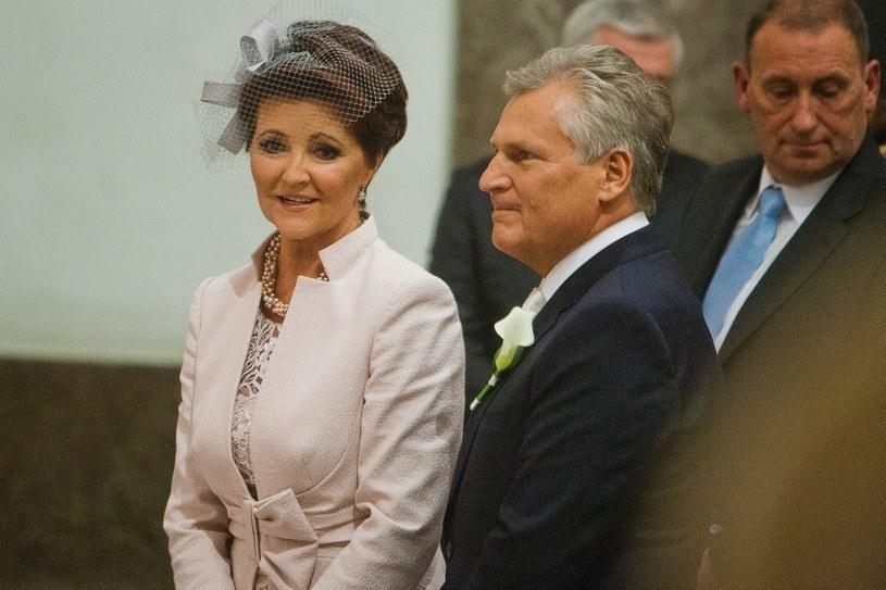 Jolanta Kwaśniewska z mężem /PIOTR GRZYBOWSKI/AGENCJA SE /East News