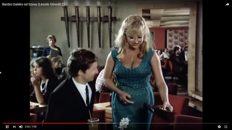 """Jolanta Lothe w """"Daleko od szosy"""" (screen: youtube.com) /materiał zewnętrzny"""