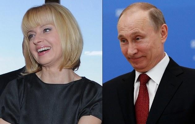 Jolanta Pieńkowska i Władimir Putin /- /MWMedia