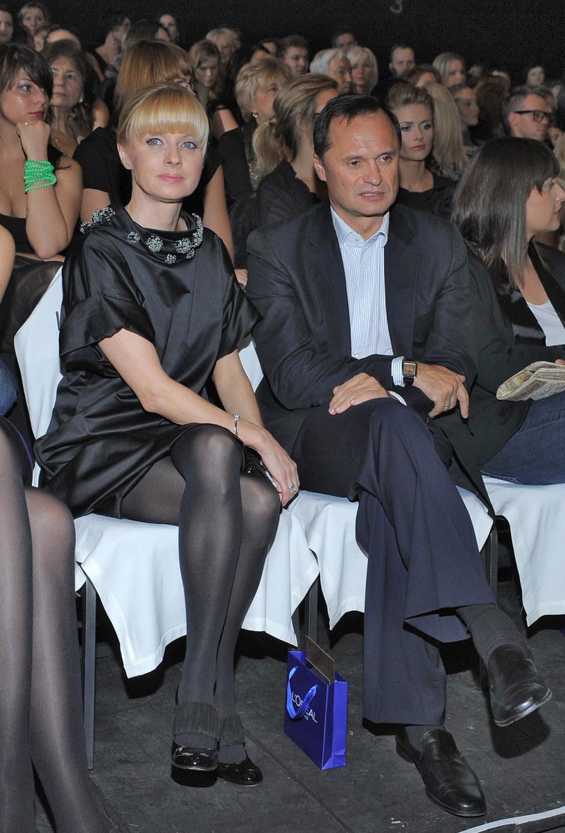 Jolanta Pieńkowska z mężem (2009 r.) /Szilagyi /MWMedia