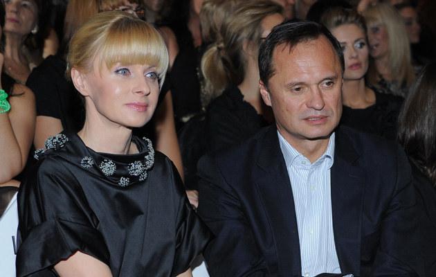 Jolanta Pieńkowska z mężem Leszkiem Czarneckim, fot.Andras Szilagyi  /MWMedia