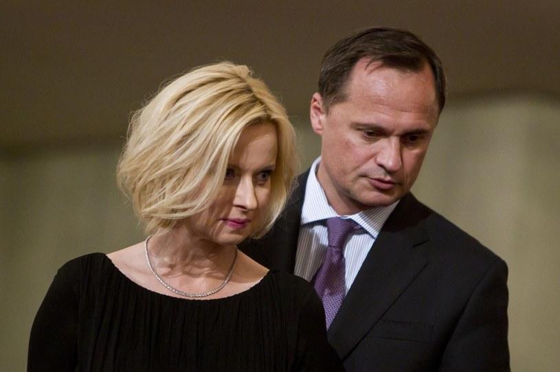 Jolanta Pieńkowska z mężem /Andrzej Stawiński /Reporter