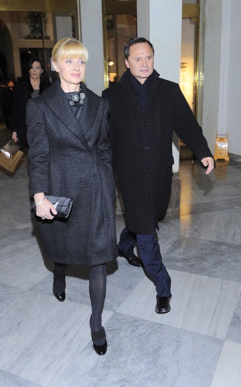 Jolanta Pieńkowska z mężem /Tricolors /East News