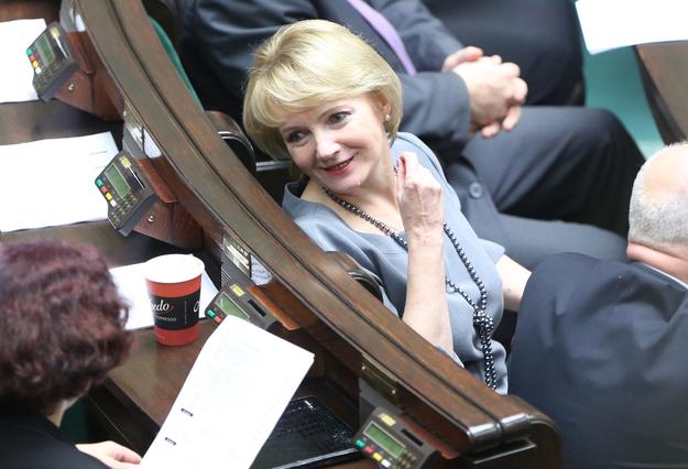Jolanta Szczypińska w Sejmie (zdj. arch.) /Leszek Szymański /PAP
