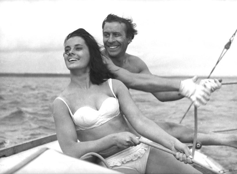 """Jolanta Umecka i Leon Niemczyk w filmie """"Nóż w wodzie"""" /Mary Evans Picture Library /East News"""