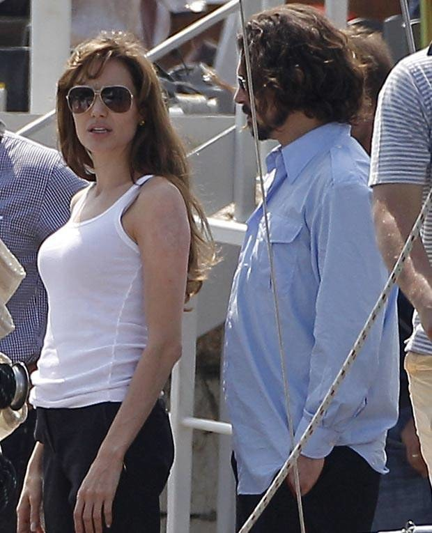 "Jolie i Depp na planie ""The Tourist""   /Splashnews"
