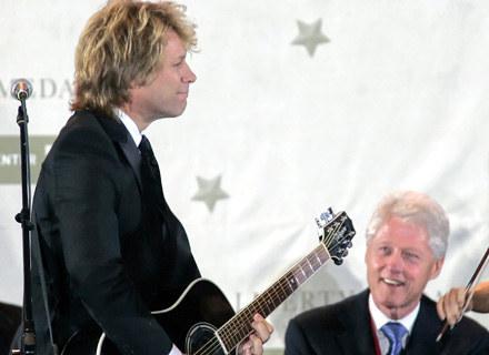 Jon Bon Jovi grał dla Billa Clintona, teraz wspiera Baracka Obamę - fot. Pool /Getty Images/Flash Press Media
