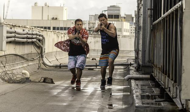 """Jonah Hill i Channing Tatum w komedii """"22 Jump Street"""" /materiały dystrybutora"""