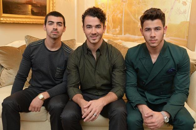 Jonas Brothers jednak wolą dziewczyny? (fot. Mike Coppola) /Getty Images/Flash Press Media