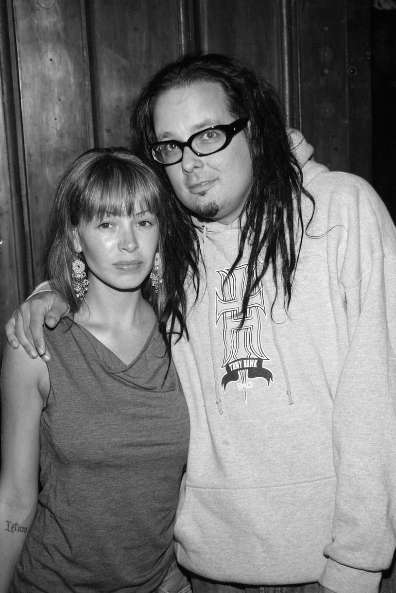 Jonathan Davis wraz z żoną /Evan Agostini /Getty Images
