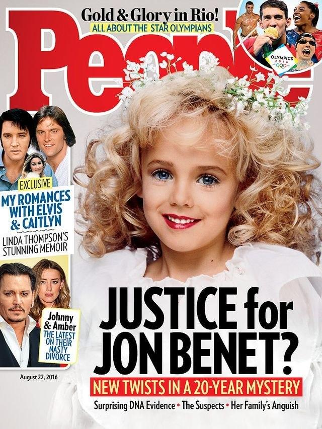 "JonBenét Ramsey na okładce magazynu ""People"" /"