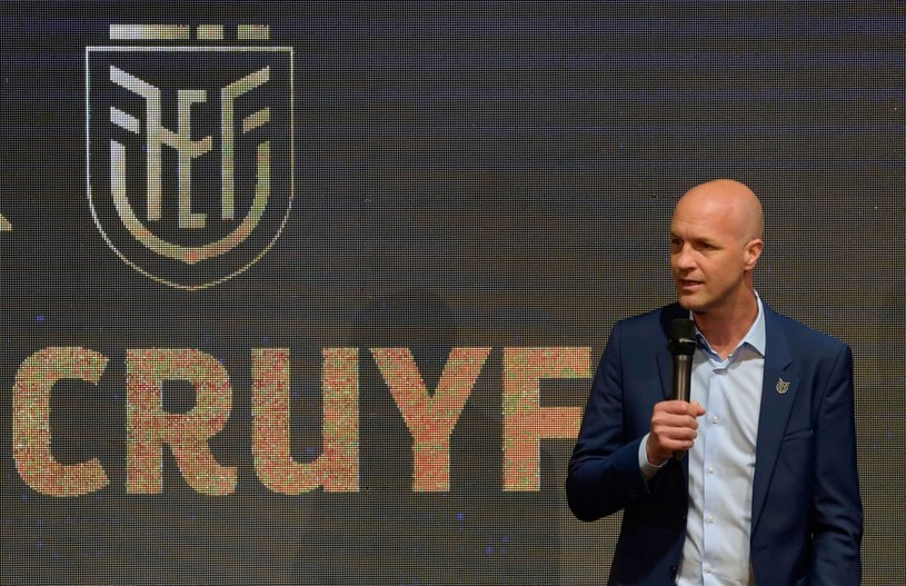 Jordi Cruyff podczas prezentacji w Quito /AFP