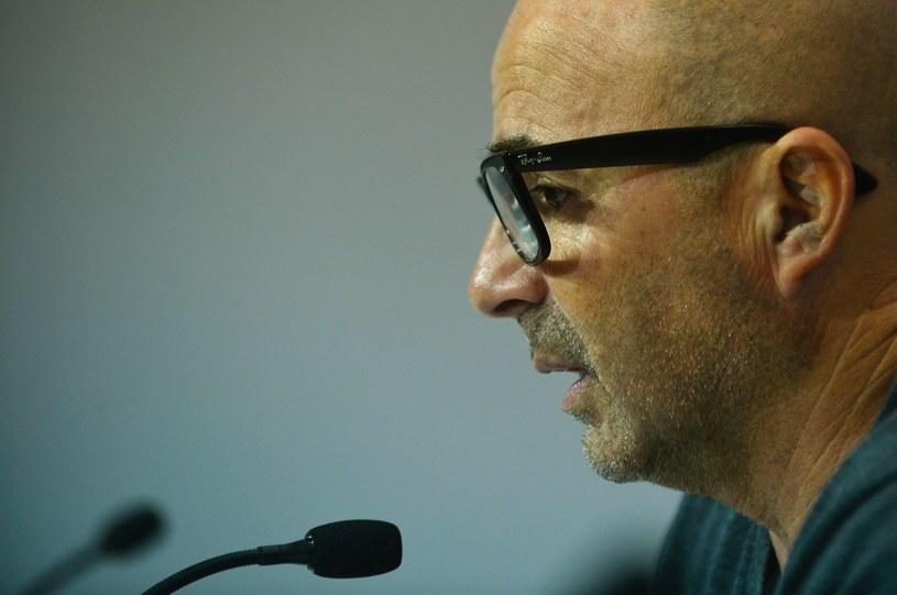 Jorge Sampaoli na konferencji prasowej przed meczem Ligi Mistrzów /AFP