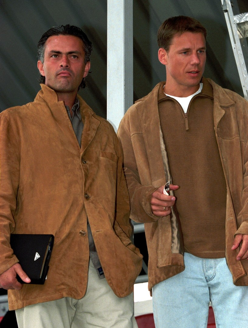 Jose Mouringo i Grzegorz Mielcarski na meczu Polonia Warszawa - Ruch Chorzów w 2002 r. /Newspix