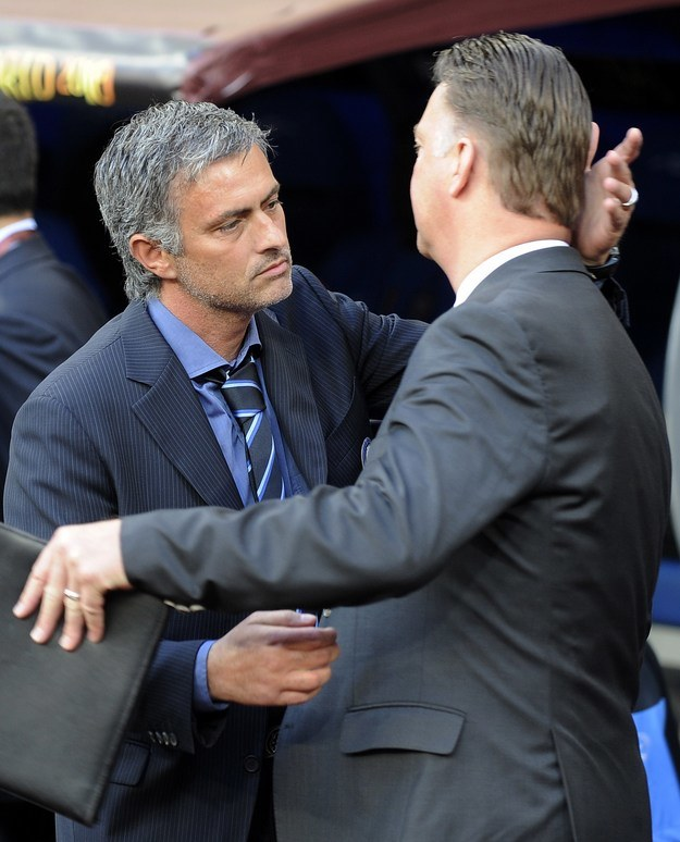 Jose Mourinho i Louis van Gaal /AFP