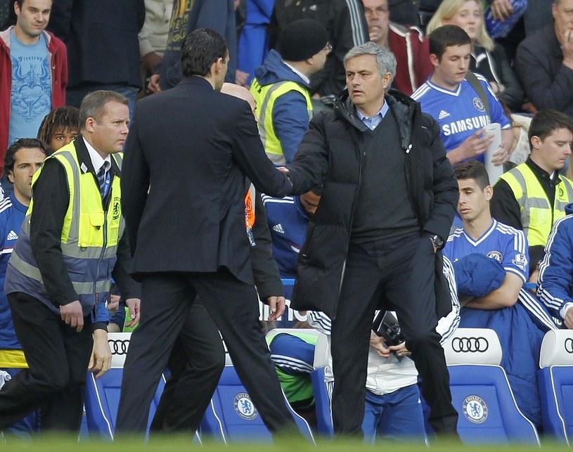 Jose Mourinho i menedżer Sunderlandu Gustavo Poyet po meczu /AFP