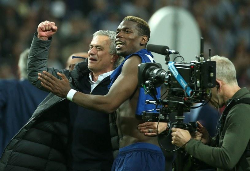 Jose Mourinho i Paul Pogba /AFP